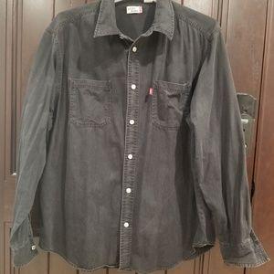Levi's Jeans Men's sz XL Black Denim Button Front